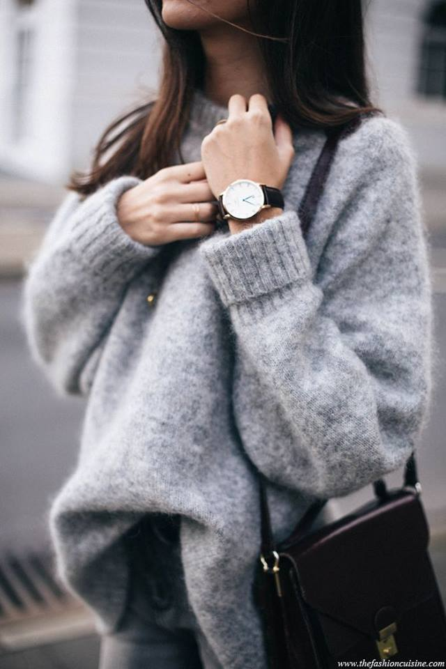 winter essentials oversized knit sweater