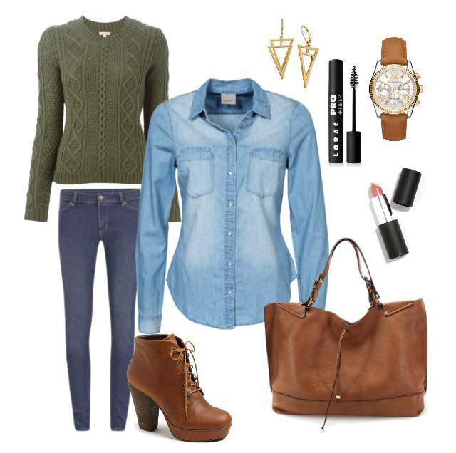 chambray shirt winter